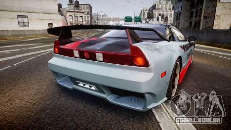 Honda NSX 1998 [EPM] takata para GTA 4 traseira esquerda vista