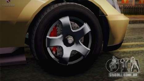 GTA 5 Karin Sultan para GTA San Andreas traseira esquerda vista