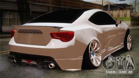 Toyota GT86 para GTA San Andreas vista traseira