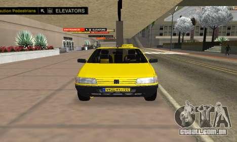 Peugeot 405 Roa Taxi para GTA San Andreas vista direita