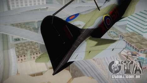ИЛ-10 da Força Aérea russa para GTA San Andreas traseira esquerda vista