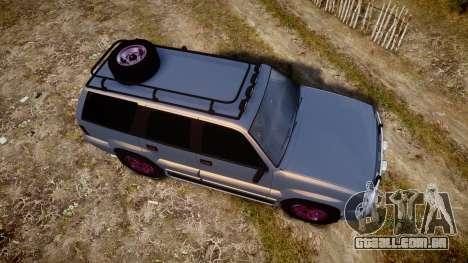 Albany Cavalcade Offroad 4X4 para GTA 4 vista direita