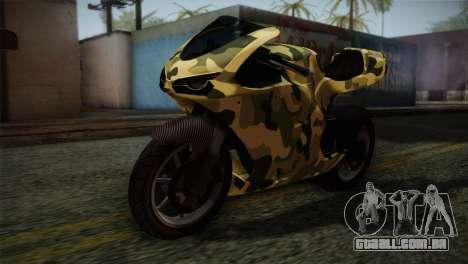 GTA 5 Bati Green para GTA San Andreas vista traseira
