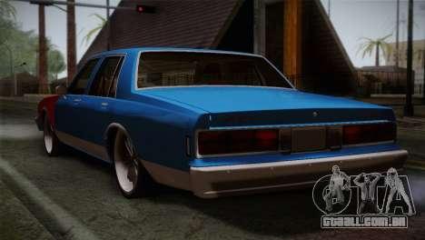 Chevy Caprice Hustler & Flow para GTA San Andreas esquerda vista