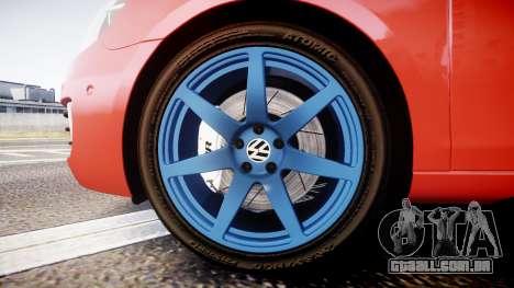 Volkswagen Golf Mk6 GTI rims3 para GTA 4 vista de volta