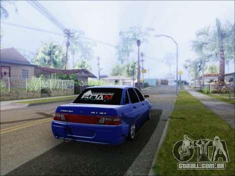 VAZ 2110 БПАN de Kemerovo para GTA San Andreas traseira esquerda vista
