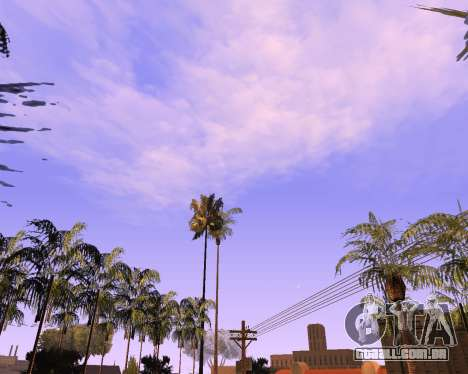 Novo nuvens e Colormod para GTA San Andreas segunda tela