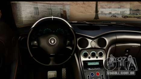 Maserati Gransport 2006 para GTA San Andreas vista interior