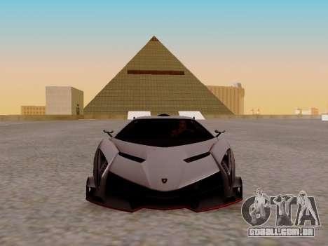 Lamborghini Veneno para GTA San Andreas esquerda vista