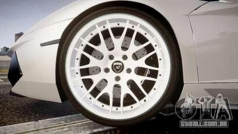 Lamborghini Aventador Hamann Limited 2014 [EPM] para GTA 4 vista de volta