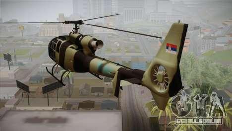 SA 342 Serbian Police Gazelle CAMO para GTA San Andreas esquerda vista