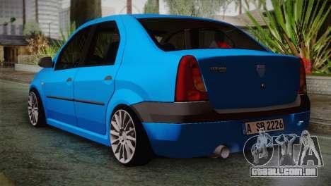 Dacia Logan 2006 para GTA San Andreas esquerda vista