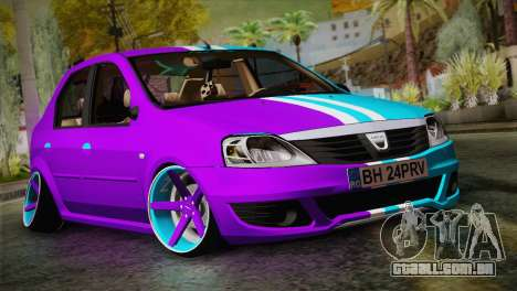 Dacia Logan Purple-Blue para GTA San Andreas