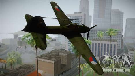 ИЛ-10 Força Aérea checa para GTA San Andreas esquerda vista