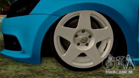 Volkswagen Polo GTI 2014 para GTA San Andreas traseira esquerda vista