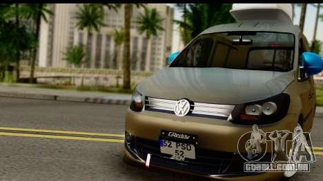 Volkswagen Caddy para GTA San Andreas traseira esquerda vista