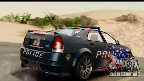 EFLC TBoGT Albany Police Stinger IVF para GTA San Andreas esquerda vista