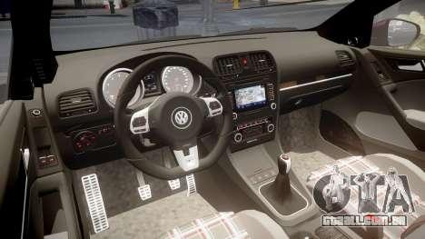 Volkswagen Golf Mk6 GTI rims1 para GTA 4 vista interior