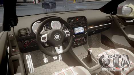 Volkswagen Golf Mk6 GTI rims3 para GTA 4 vista interior