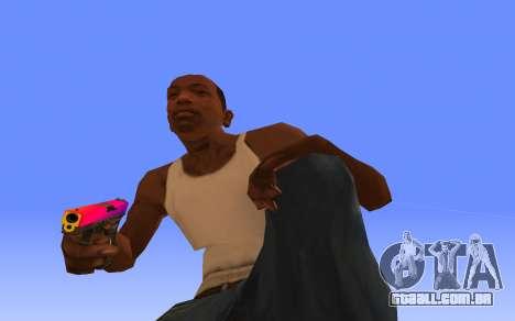 Glock-18 gradiente de CS:GO para GTA San Andreas segunda tela