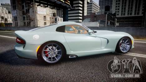 Dodge Viper SRT 2013 rims3 para GTA 4 esquerda vista