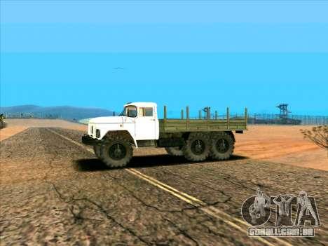 ZIL 131 para GTA San Andreas esquerda vista
