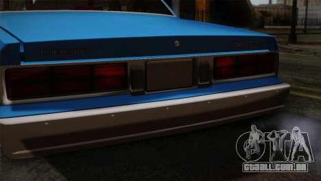 Chevy Caprice Hustler & Flow para GTA San Andreas vista traseira