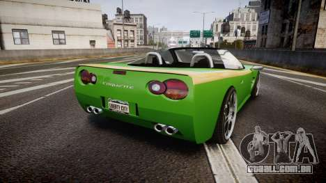 Invetero Coquette Roadster para GTA 4 traseira esquerda vista
