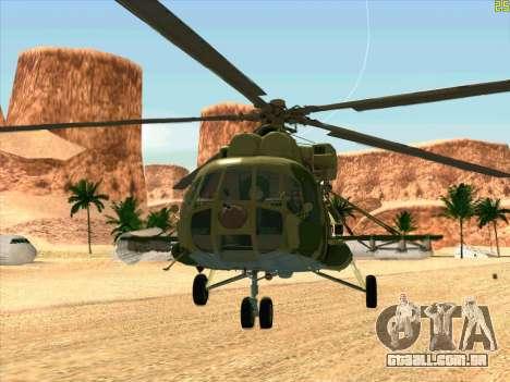 Mi-8 para GTA San Andreas esquerda vista