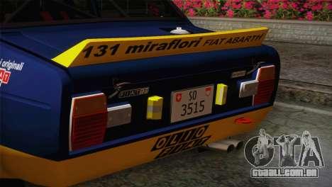 Fiat Abarth Sport Edition para GTA San Andreas vista direita