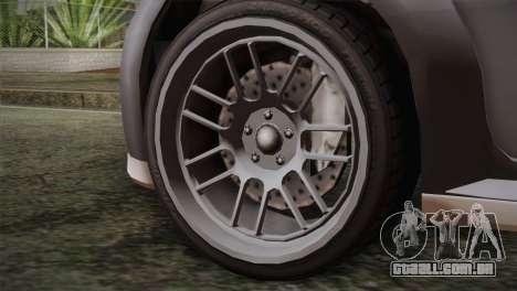 GTA 5 Sentinel para GTA San Andreas traseira esquerda vista