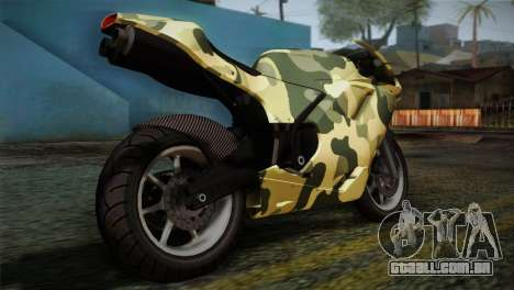 GTA 5 Bati Green para GTA San Andreas esquerda vista