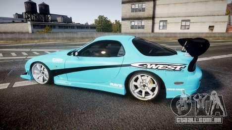 Mazda RX-7 C-West para GTA 4 esquerda vista