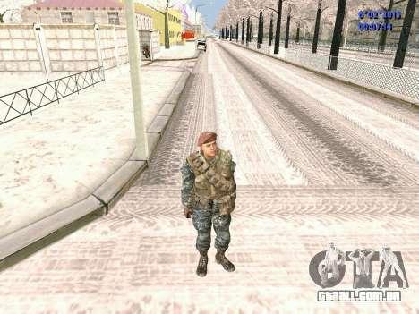 As forças especiais da URSS CoD Black Ops para GTA San Andreas segunda tela
