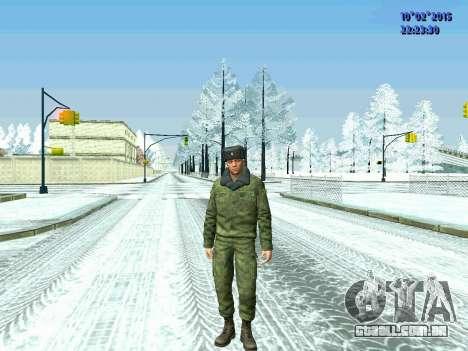 Pak militar da Federação da rússia no inverno un para GTA San Andreas terceira tela