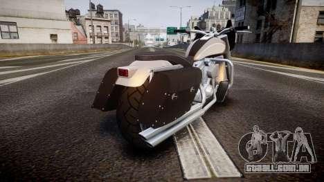GTA V Western Motorcycle Company Bagger para GTA 4 traseira esquerda vista