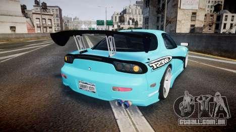 Mazda RX-7 C-West para GTA 4 traseira esquerda vista