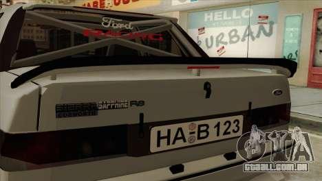 Ford Sierra Sapphire 4x4 RS Cosworth para GTA San Andreas traseira esquerda vista