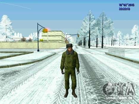 Pak militar da Federação da rússia no inverno un para GTA San Andreas