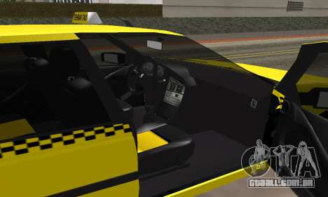 Peugeot 405 Roa Taxi para GTA San Andreas vista interior