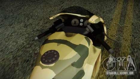 GTA 5 Bati Green para GTA San Andreas vista direita