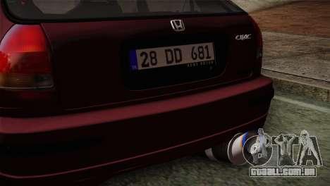Honda Civic 1.4i S TMC para GTA San Andreas vista direita