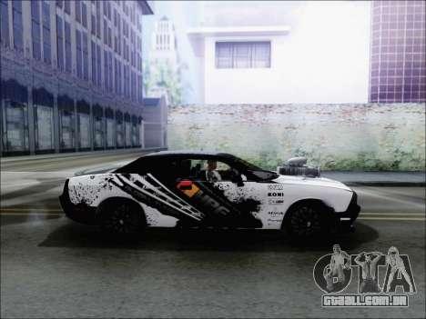 Dodge Challenger SRT8 Hemi Drag Tuning para GTA San Andreas esquerda vista