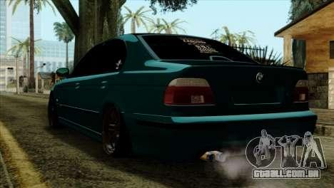 BMW 540 E39 Accuair para GTA San Andreas esquerda vista