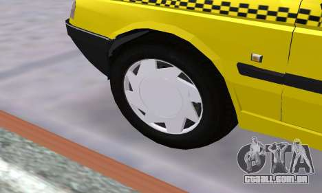 Peugeot 405 Roa Taxi para GTA San Andreas vista inferior
