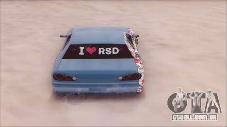 RSD Elegy para GTA San Andreas traseira esquerda vista