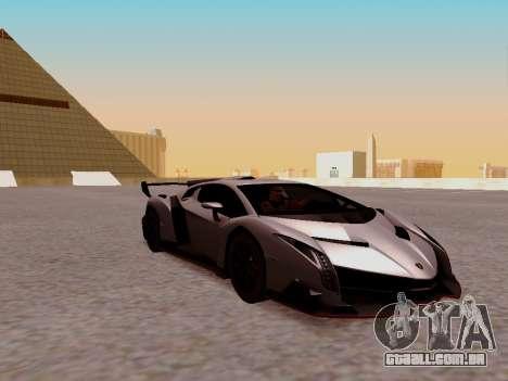Lamborghini Veneno para GTA San Andreas traseira esquerda vista