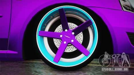 Dacia Logan Purple-Blue para GTA San Andreas traseira esquerda vista