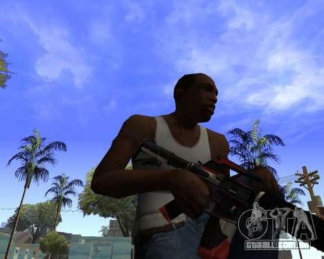 M4A1-S Syrex CS:GO para GTA San Andreas terceira tela