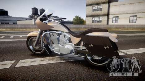 GTA V Western Motorcycle Company Bagger para GTA 4 esquerda vista